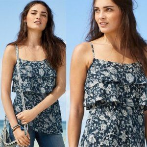 Peruvian Connection Becca Camisole Blue Floral 8
